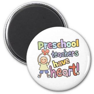Preschool Teachers Have Heart 6 Cm Round Magnet