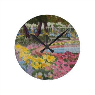 Prescott Park Garden Poppies Portsmouth NH Round Clock