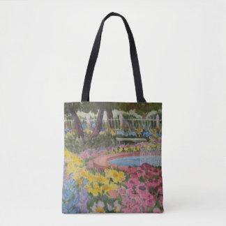 Prescott Park Portsmouth NH Watercolor Tote Bag
