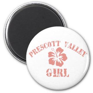 Prescott Valley Pink Girl 2 Inch Round Magnet