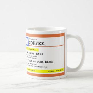 Prescription Coffee Personalised Coffee Mug