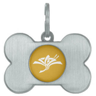 Present crane pet name tag