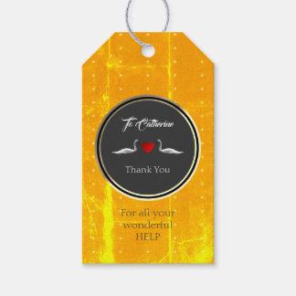 Present Labels Golden Swan