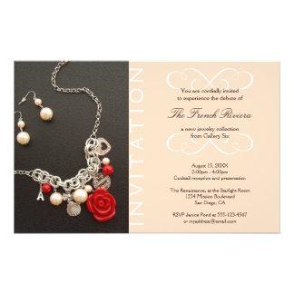 Present new luxury product elegant pink invitation 14 cm x 21.5 cm flyer