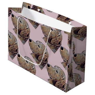 Present stock market GR. Golden Large Gift Bag