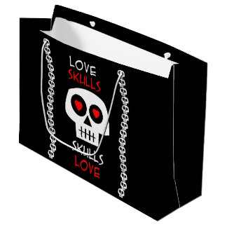 Present stock market GR. Skulls Large Gift Bag