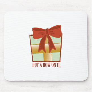 Present With Bow Mouse Pad