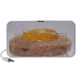Presentation of Pastry with jelly iPod Speakers