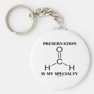 Preservation Is My Specialty Formaldehyde Molecule Basic Round Button Key Ring