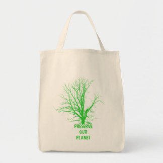 preserve our planet organic grocery tote bag