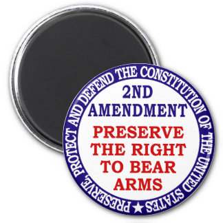 Preserve The Right to Bear Arms ( 2nd Amendment ) Refrigerator Magnets