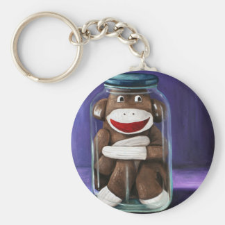 Preserving Childhood with Sock Monkey Key Ring