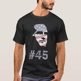 President #45 Mitt Romney Face American Flag Shirt