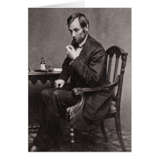 PRESIDENT ABRAHAM LINCOLN 1862 STEREOVIEW CARD