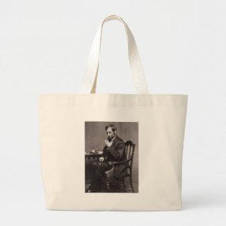 PRESIDENT ABRAHAM LINCOLN 1862 STEREOVIEW JUMBO TOTE BAG