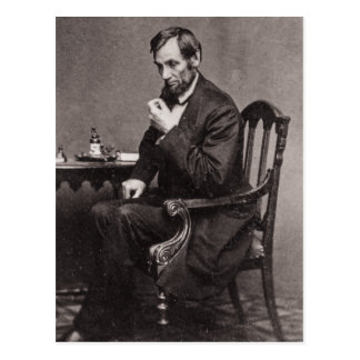 PRESIDENT ABRAHAM LINCOLN 1862 STEREOVIEW POSTCARD