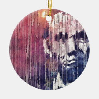 President Abraham Lincoln Abstract Ceramic Ornament