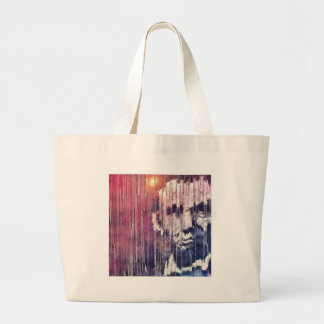 President Abraham Lincoln Abstract Large Tote Bag