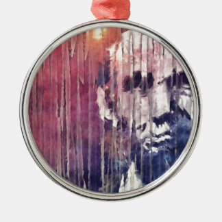 President Abraham Lincoln Abstract Metal Ornament