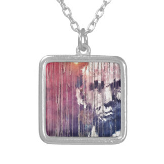 President Abraham Lincoln Abstract Silver Plated Necklace