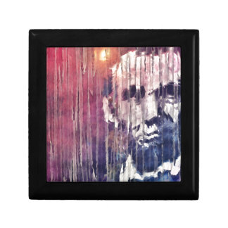 President Abraham Lincoln Abstract Small Square Gift Box