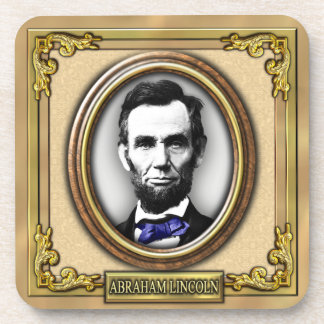 President Abraham Lincoln Beverage Coasters