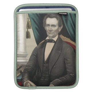 President Abraham Lincoln Color Portrait Kellogg Sleeves For iPads