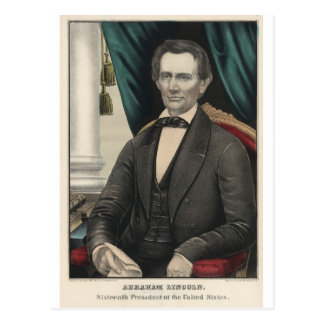 President Abraham Lincoln Color Portrait Kellogg Postcard