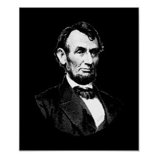 President Abraham Lincoln Graphic Poster