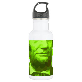 PRESIDENT ABRAHAM LINCOLN GREEN FACE PORTRAITGifts 532 Ml Water Bottle