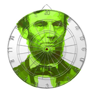 PRESIDENT ABRAHAM LINCOLN GREEN FACE PORTRAITGifts Dart Boards