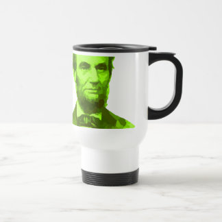PRESIDENT ABRAHAM LINCOLN GREEN FACE PORTRAITGifts Mugs