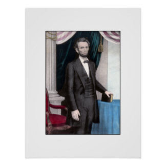 President Abraham Lincoln In Color Poster