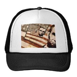President Abraham Lincoln Patriotic Flag Trucker Hat