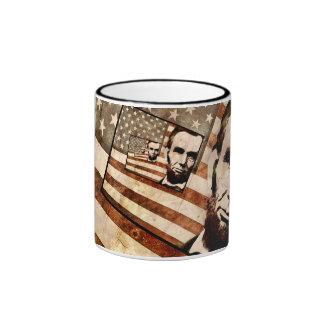 President Abraham Lincoln Patriotic Flag Mug