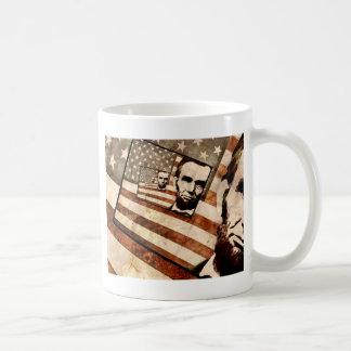 President Abraham Lincoln Patriotic Flag Coffee Mug