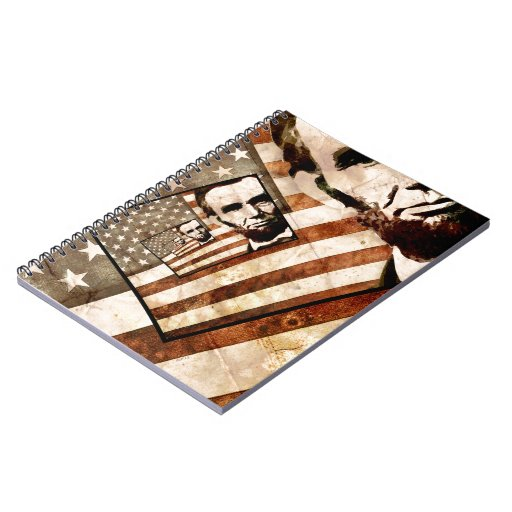 President Abraham Lincoln Patriotic Flag Note Books