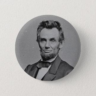 President Abraham Lincoln Portrait by Mathew Brady 6 Cm Round Badge