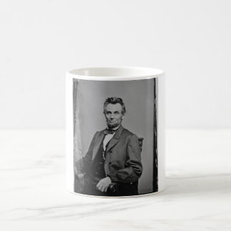 President Abraham Lincoln Portrait by Mathew Brady Basic White Mug