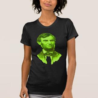 President Abraham Lincoln Portrait Green Face Tshirts