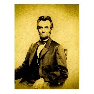 President Abraham Lincoln RARE STEREOVIEW VINTAGE Postcard