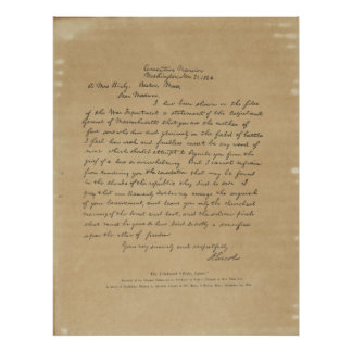 President Abraham Lincoln s Letter to Mrs Bixby Print