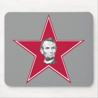 President Abraham Lincoln Star Mouse Pad