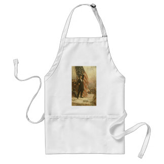 President Abraham Lincoln Under the American Flag Adult Apron