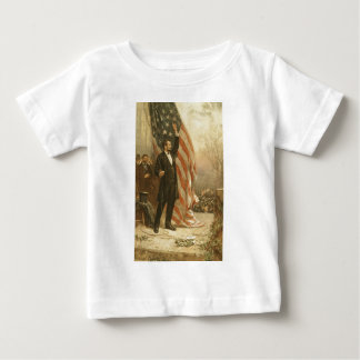 President Abraham Lincoln Under the American Flag T Shirts