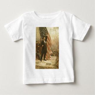 President Abraham Lincoln Under the American Flag Tee Shirt
