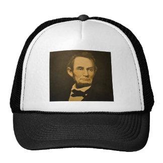President Abraham Lincoln Vintage Engraving Trucker Hats
