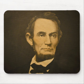 President Abraham Lincoln Vintage Engraving Mouse Pad