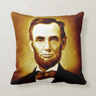 President Abraham Lincoln Vintage Portrait Sepia Cushion