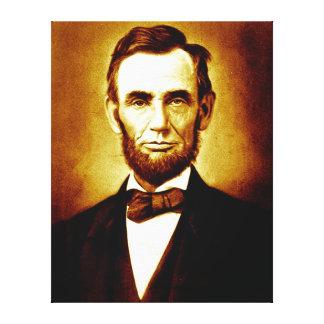 President Abraham Lincoln Vintage Portrait Stretched Canvas Print